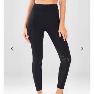 Fabletics high waist black knit leggings size XS